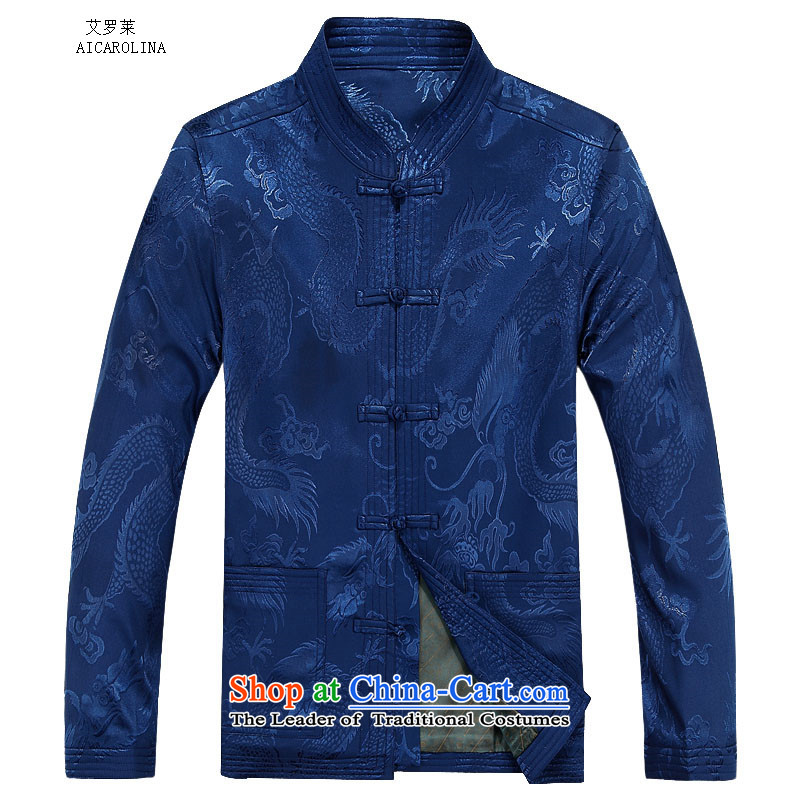 Hiv Rollet autumn and winter new products with long-sleeved kit TANG Tai Lung Tang jacket is smart casual Chinese men and Tang Dynasty Package Blue Kit聽85 HIV ROLLET (AICAROLINA) , , , shopping on the Internet