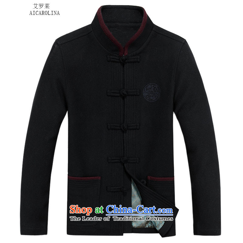 Hiv Rollet autumn and winter men in Tang Dynasty older a China Wind Jacket Tang Navy?M