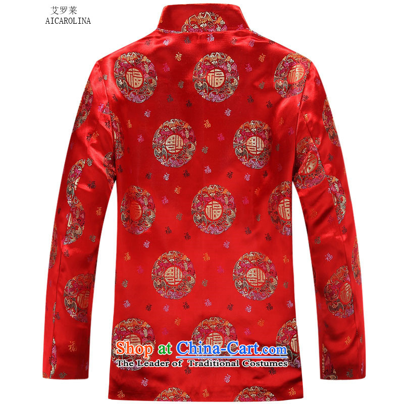 Hiv middle-aged men Rollet, Ms. Tang dynasty fashion lovers Tang jacket male version聽175 HIV Rollet Red (AICAROLINA) , , , shopping on the Internet
