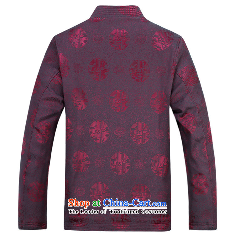 Hiv Rollet Men long-sleeved thick kit autumn and winter new products in Chinese tunic collar older Tang Dynasty Package dark blue packaged聽XXL picture, prices, brand platters! The elections are supplied in the national character of distribution, so action, buy now enjoy more preferential! As soon as possible.