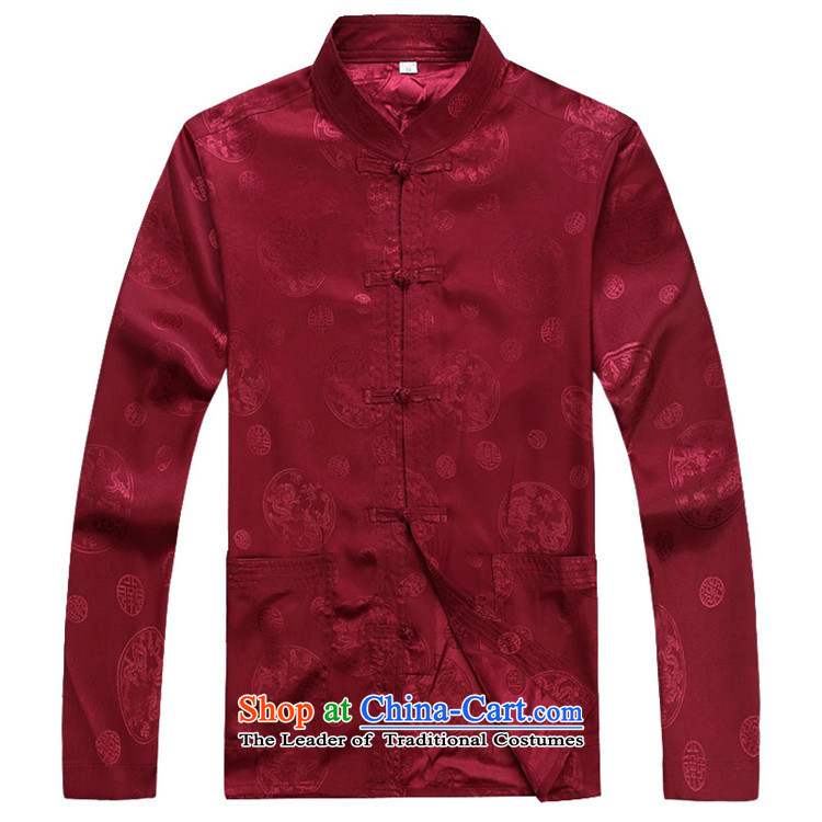 Rollet HIV from older men fall and winter long-sleeved round lung Tang dynasty China Wind Pants Shirts Kit red T-shirt聽XXXL picture, prices, brand platters! The elections are supplied in the national character of distribution, so action, buy now enjoy more preferential! As soon as possible.