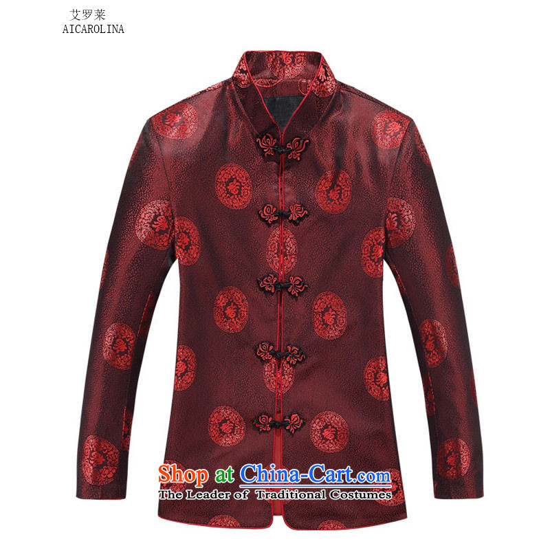 Hiv Rollet autumn and winter in older men, couples, Tang Dynasty Package female red T-shirt?165