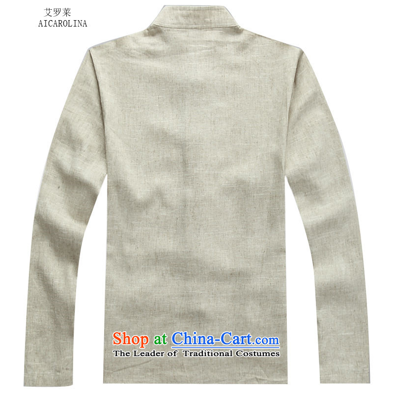 Hiv Rollet autumn and winter in Tang Dynasty Older ethnic linen long-sleeved men Tang Dynasty Package聽XXL, beige HIV ROLLET (AICAROLINA) , , , shopping on the Internet