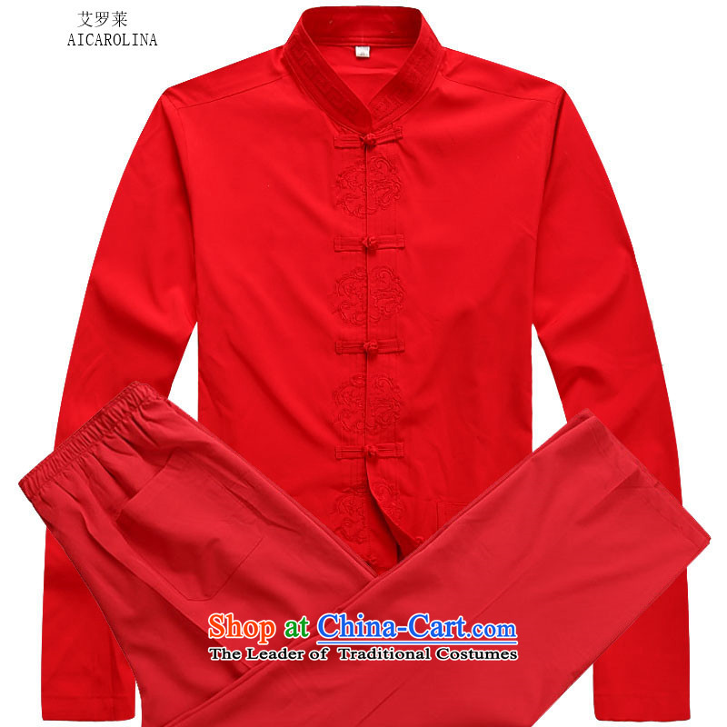 Hiv Rollet 2015 Fall_Winter Collections of new products in the Tang dynasty China wind Older long-sleeved red kit kit?XL