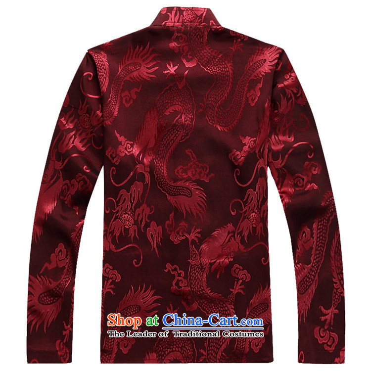 Hiv Rollet Fall/Winter Collections of older Mock-neck Tang Dynasty Recreation Suite Large Dragon long-sleeved men Tang red kit聽M picture, prices, brand platters! The elections are supplied in the national character of distribution, so action, buy now enjoy more preferential! As soon as possible.
