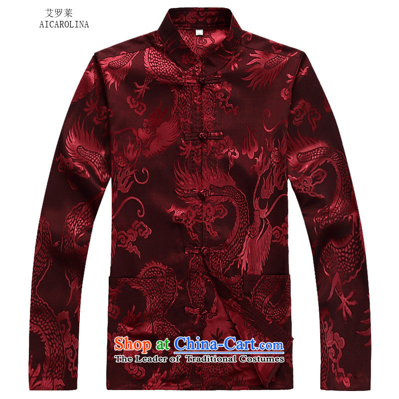 Hiv Rollet Fall/Winter Collections of older Mock-neck Tang Dynasty Recreation Suite Large Dragon long-sleeved men Tang red kit聽M HIV ROLLET (AICAROLINA) , , , shopping on the Internet