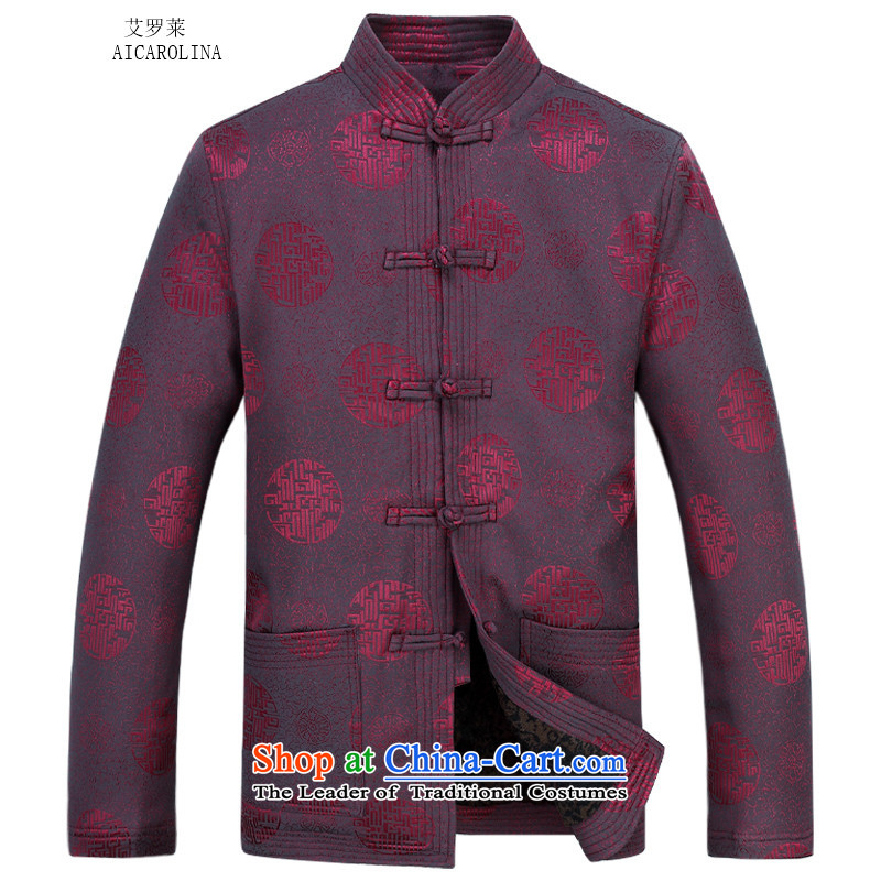 Hiv Rollet Men long-sleeved kit autumn and winter new products collar Chinese tunic millennium thick cotton in older Tang Dynasty Package red kit聽XXL, HIV ROLLET (AICAROLINA) , , , shopping on the Internet