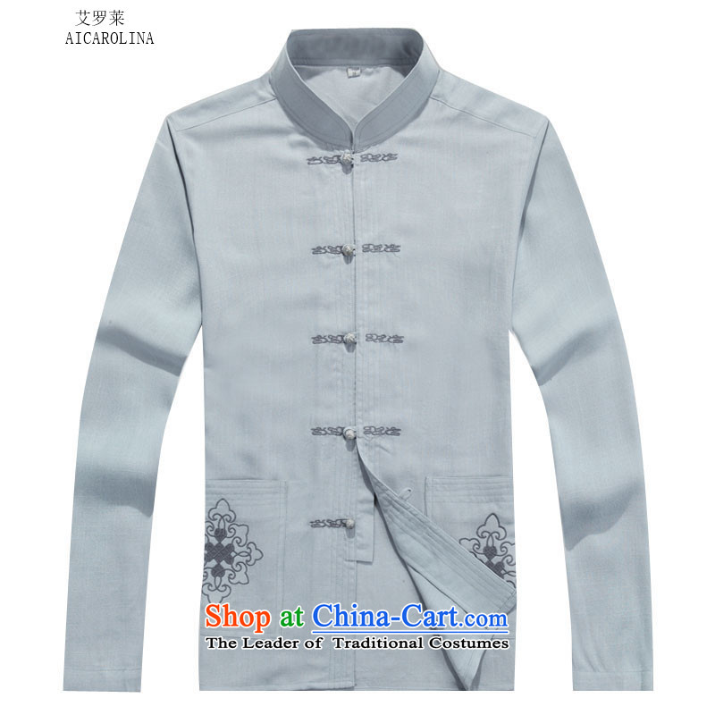 Rollet HIV from older men Tang jackets autumn and winter set long-sleeved gray suitXXXL, HIV ROLLET (AICAROLINA) , , , shopping on the Internet