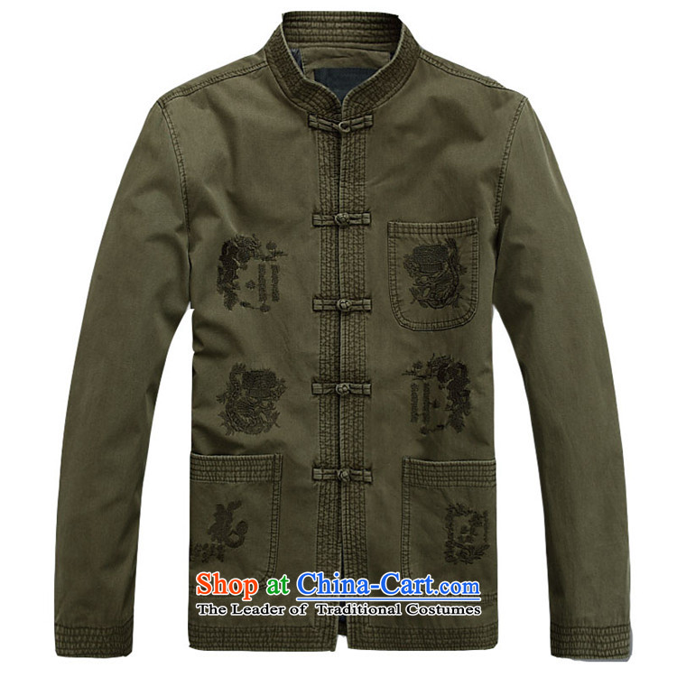 Hiv Rollet men's jackets and load Tang long-sleeved shirt collar male China wind Tang Dynasty 3 color photo of M, prices, brand platters! The elections are supplied in the national character of distribution, so action, buy now enjoy more preferential! As soon as possible.