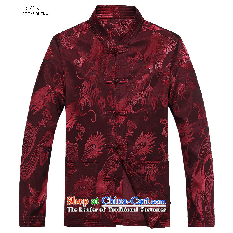 Hiv Rollet autumn and winter new products with long-sleeved Kit Tang stylish and cozy Large Dragon Chinese men and Tang Dynasty Package Red Kit聽70 HIV ROLLET (AICAROLINA) , , , shopping on the Internet