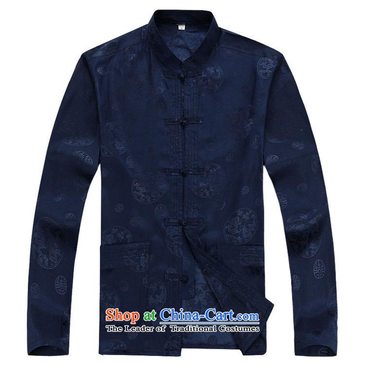 Rollet HIV from older men fall and winter long-sleeved round lung Tang dynasty China Wind Pants Shirts Kit blue kit S picture, prices, brand platters! The elections are supplied in the national character of distribution, so action, buy now enjoy more preferential! As soon as possible.