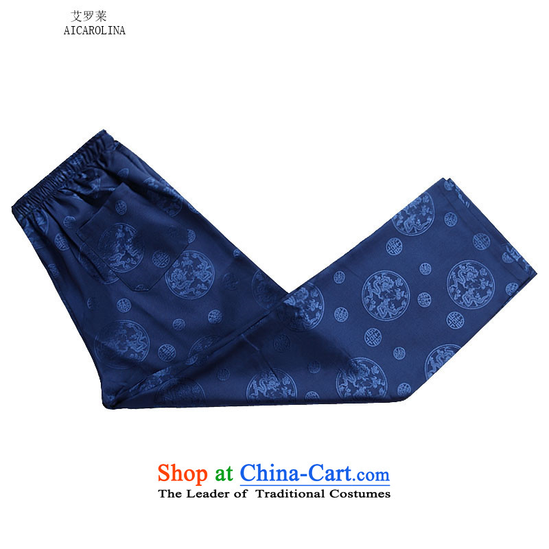 Rollet HIV from older men fall and winter long-sleeved round lung Tang dynasty China Wind Pants Shirts Kit blue kit S, HIV (AICAROLINA ROLLET) , , , shopping on the Internet