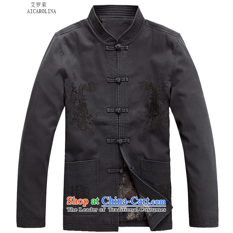 Hiv Rollet 2015 autumn and winter new sand washing cotton Ssangyong jacket in Tang Dynasty elderly men carbon聽M