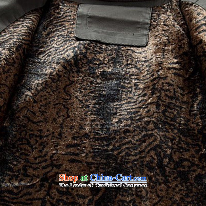 Hiv Rollet men Tang dynasty 2015 autumn and winter new thick sand washing cotton Ssangyong Tang dynasty light gray , L, HIV (AICAROLINA ROLLET) , , , shopping on the Internet