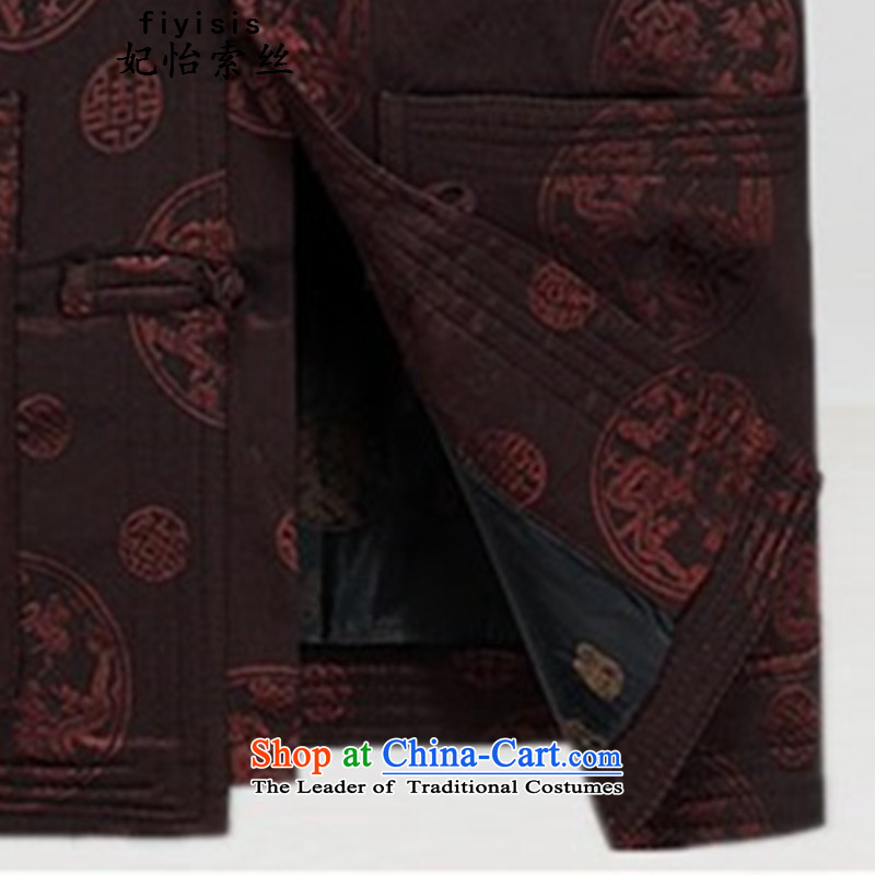 Princess Selina Chow in China wind-tang blouses men detained聽autumn 2015 replacing Tang Jacket coat of older men father boxed long-sleeved T-shirt and brown Tang dynasty聽princess Selina Chow L/175, (fiyisis) , , , shopping on the Internet