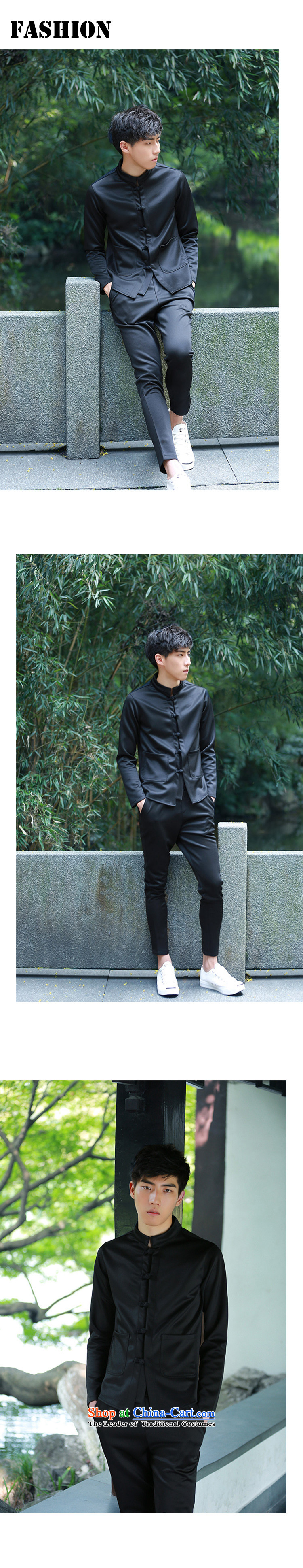 Uyuk2015 autumn and winter China wind retro Tang jackets Korean Sau San disk detained classical wind jacket small jacket of the sportswear male and black聽L picture, prices, brand platters! The elections are supplied in the national character of distribution, so action, buy now enjoy more preferential! As soon as possible.