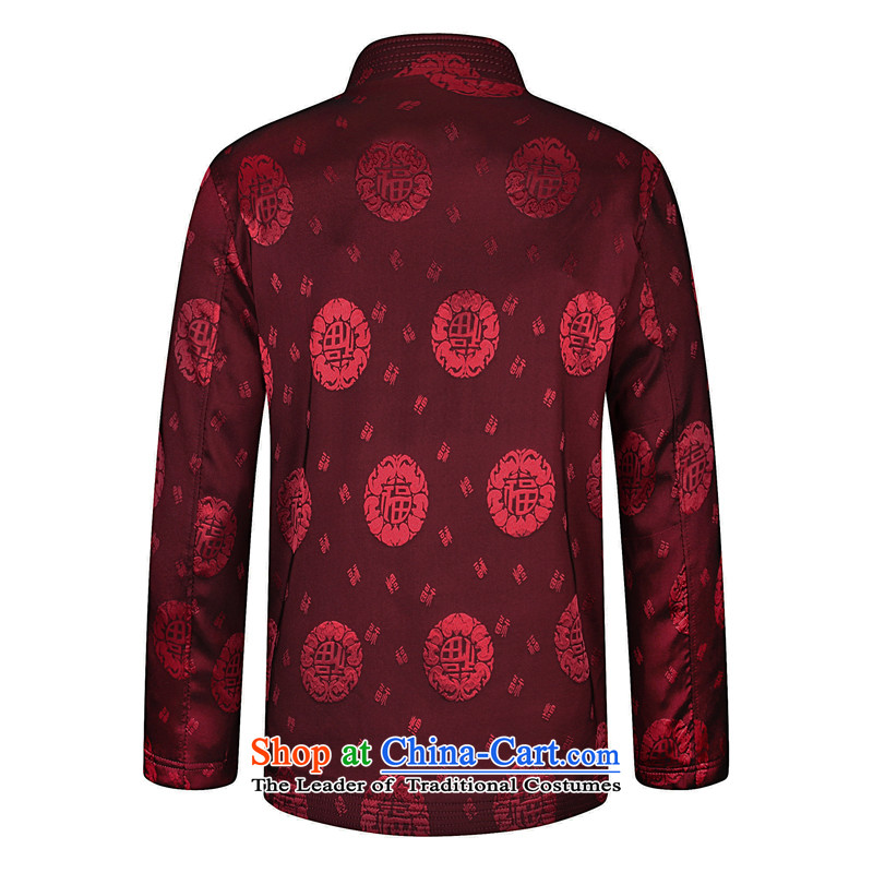 Enjoy great new spring and autumn stamp Tang dynasty Mock-neck elderly men who decorated in cotton shirt ironing dad load from breathability and comfort for larger jacket China wind retro Tang dynasty wine red185 recommendations about 1.76m 160), enjoy g