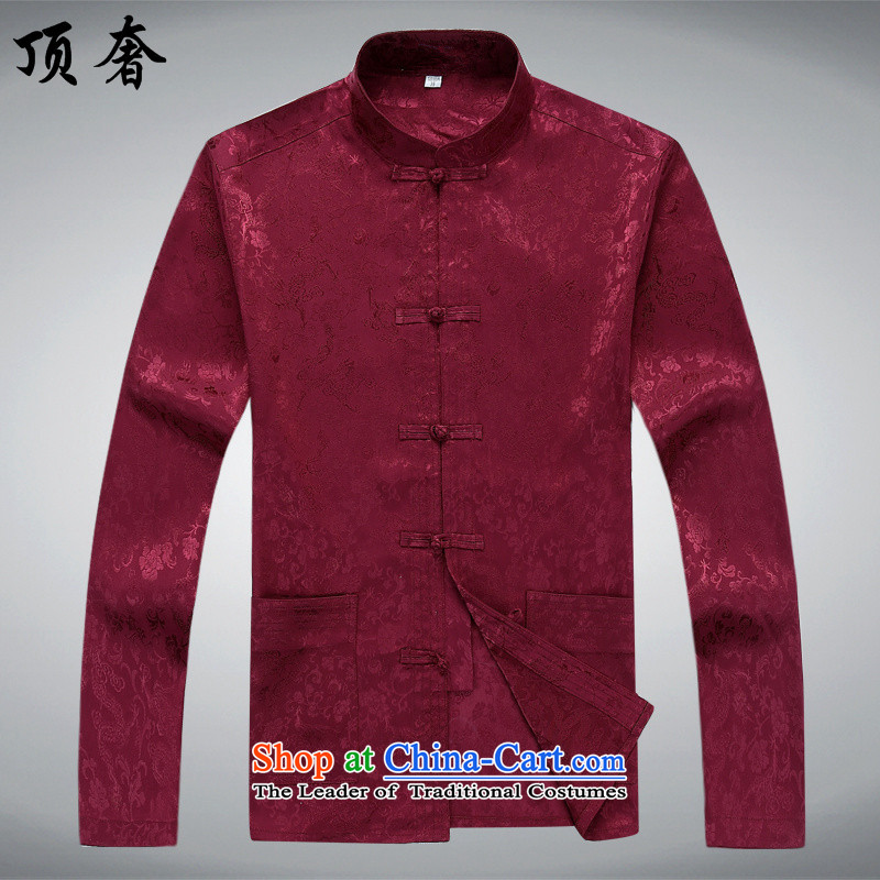 Top Luxury older Tang Dynasty Package short-sleeved men's new Tang blouses men's summer short-sleeved half sleeve men silk cotton father replacing Tang dynasty China wind kit red) packaged聽170/M, top luxury shopping on the Internet has been pressed.