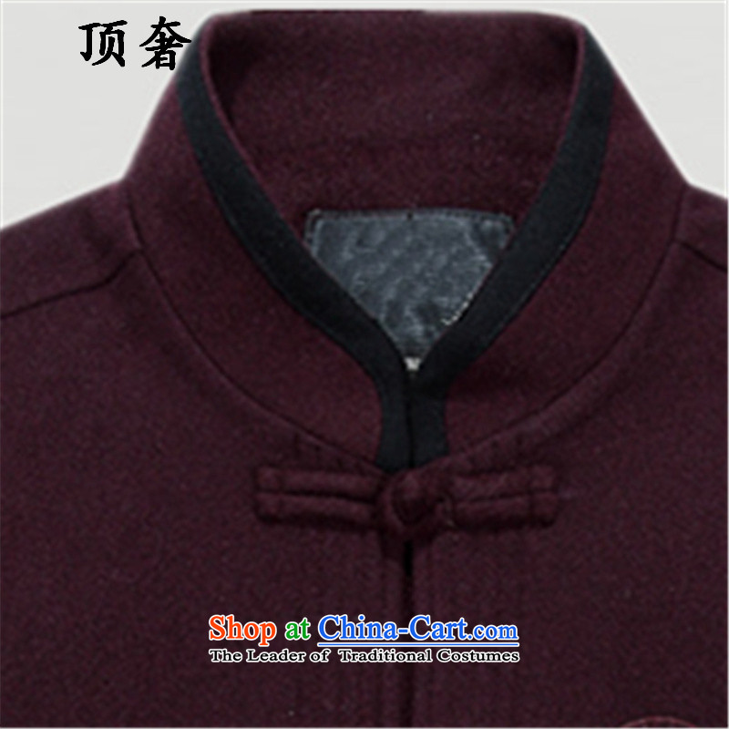 Top Luxury in autumn and winter elderly men, Tang woolen sweater, Chinese national costumes wedding replacing Tang Dynasty Grandpa Male dress loose version is detained Han-wine red)聽170, the top luxury shopping on the Internet has been pressed.