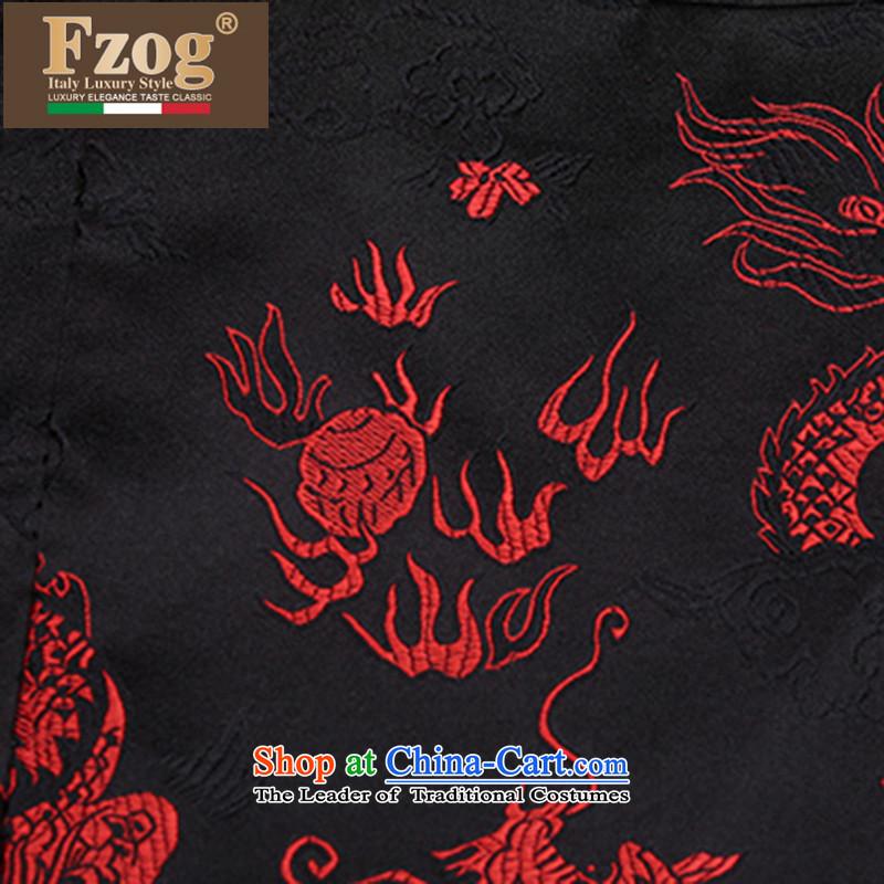 聽The autumn and winter of Chinese FZOG wind national men's hands-free ironing disposal of animal ribbed collar middle-aged long-sleeved black Tang relaxd聽XXXL,FZOG,,, shopping on the Internet