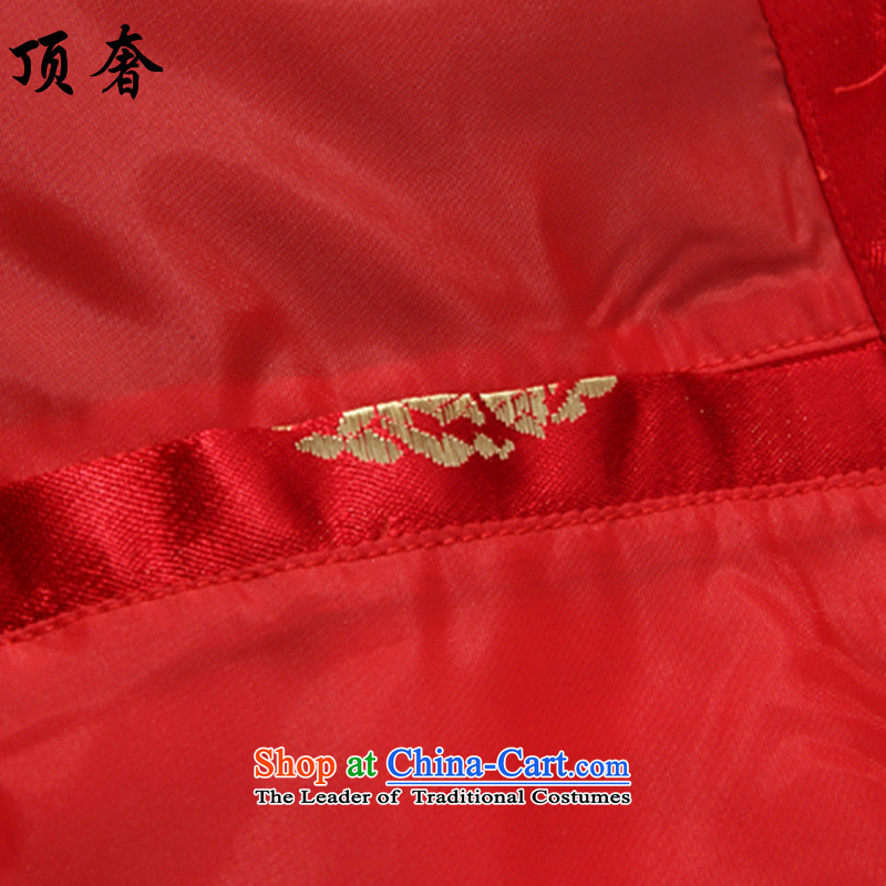 Top Luxury 2015 men's blouses loose version Tang collar up wedding dresses detained Han-chun of red jacket from older Tang Tang dynasty women clothes women 170, the top luxury shopping on the Internet has been pressed.