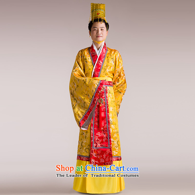 The annual meeting will time the syrian costume Han-men and ancient costumes videos Minister Han Dynasty services gown costumes yellow