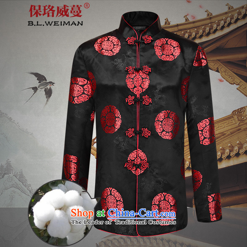 The Lhoba nationality Wei Overgrown Tomb in warranty older couples Tang Dynasty Package elderly men's birthday Golden Chinese clothing jacket autumn autumn燺female_ with 01 plus cotton 180_XL_