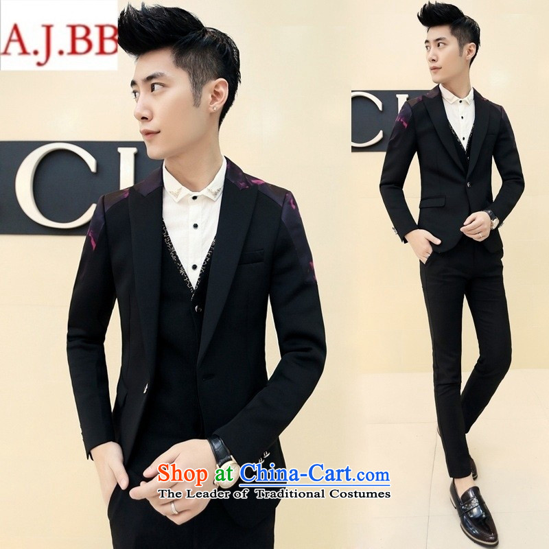 Orange Tysan *2015 autumn and winter Korean men suit Sau San stamp the bridegroom suit who suits�A407 XZ30 with black�EUR48