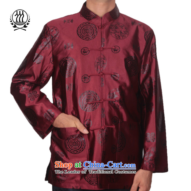 Bosnia and older women and men in line thre couples, Tang jackets national wind round dragon in older birthday too life jackets燜1502 banquet Tang bourdeaux_ Men燲XXL_190