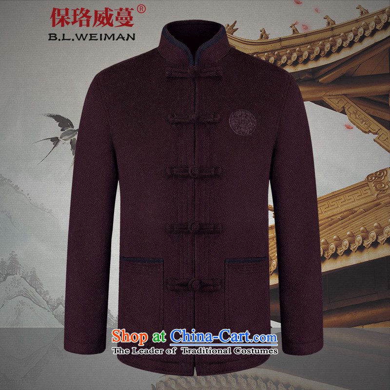 The Lhoba nationality Wei Mephidross warranty spring of older persons in the Tang dynasty couples men wool a grandmother grandfather replacing old wine red jacket _male_ 175