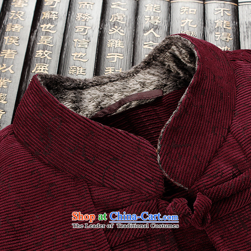 The Lhoba nationality Wei Mephidross UNPROFOR men's men in Tang Dynasty, spring and autumn edge fluff older replacing thick grandfather jacket China wind men red聽180/XL, warranty, Judy Wai (B.L.WEIMAN Overgrown Tomb) , , , shopping on the Internet