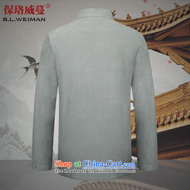 The spring of the Lhoba nationality Wei Mephidross Warranty New Men Chinese tunic collar Solid Color Tang dynasty male cotton linen clothes father pack Black聽190/XXXL, warranty, Judy Wai (B.L.WEIMAN Overgrown Tomb) , , , shopping on the Internet