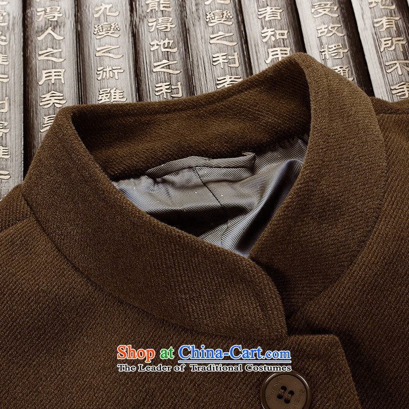 The Lhoba nationality Wei Mephidross warranty leisure Tang dynasty men spring new corduroy jacket men of older persons in the clothes with her father brown聽175/L, warranty, Judy Wai (B.L.WEIMAN Overgrown Tomb) , , , shopping on the Internet