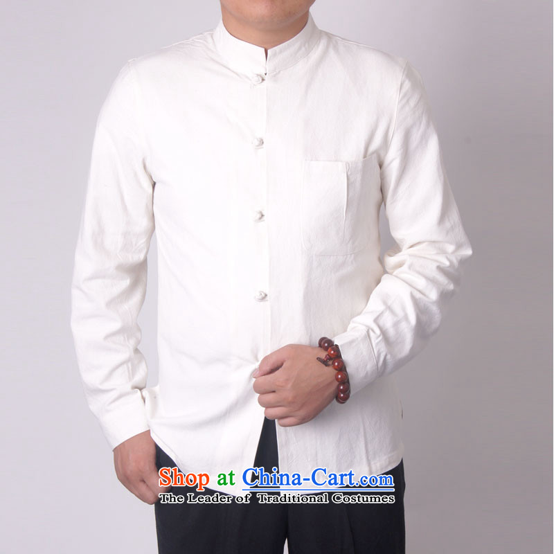 Mr Rafael Hui-ying's New Man Tang jackets during the spring and autumn boxed long-sleeved shirt collar male China wind Chinese elderly in the national costumes holiday gifts of blue and white 7750 180