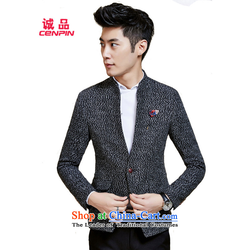 Eslite autumn and winter load new Korean men short of Sau San X57 gray suit M