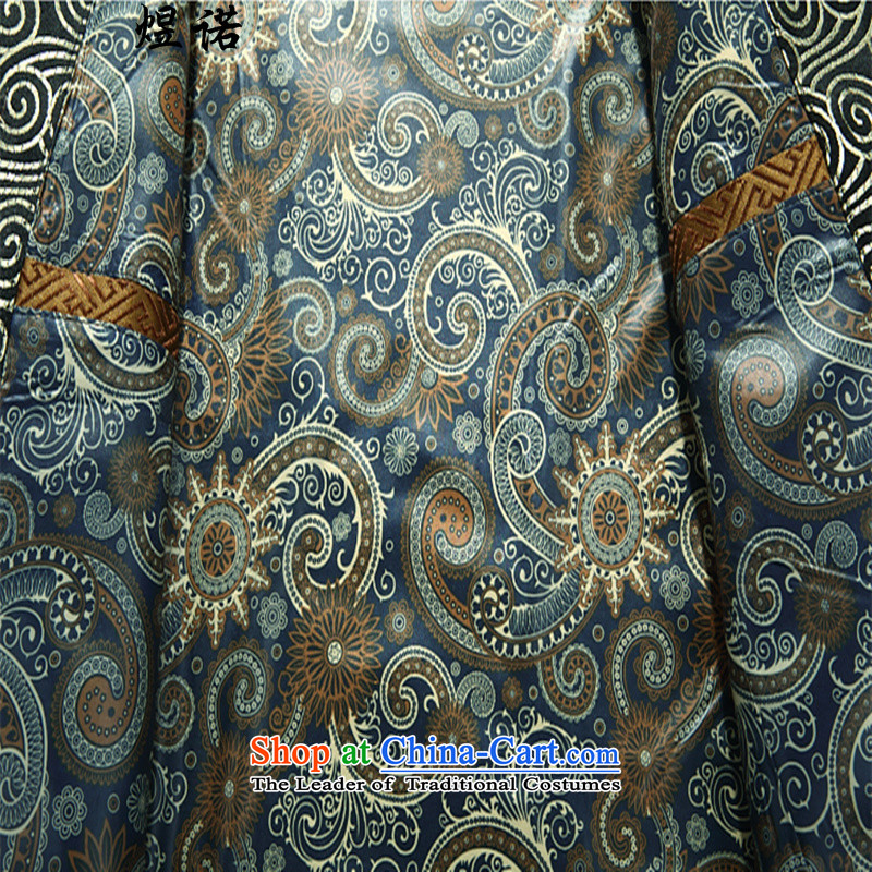 Familiar with the Spring and Autumn Period and the Tang dynasty male jacket coat Chinese Han-maximum code disk detained dress silk Han-ethnic performances in long-sleeved shirt older grooms and Kim Ho Chinese Dress聽XXXL/190, Yuk, , , , shopping on the Int