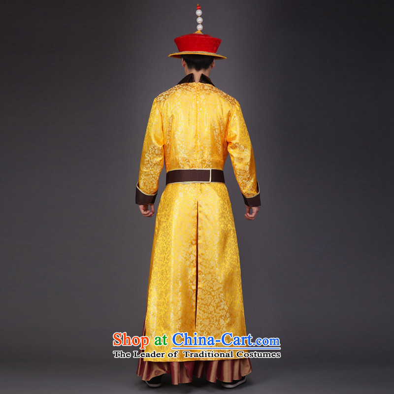Time Syrian robes of the dragon, the emperor of the Qing Emperor Apparel clothing Zerubbabel costume Queen's clothing will stage performances videos clothing costumes yellow, time Syrian shopping on the Internet has been pressed.
