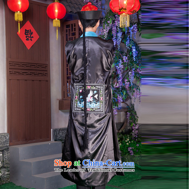 Time Syrian men wearing Qing dynasty ancient costumes. Eunuchs replacing Halloween costumes Halloween costume zombie bodyguard will deep red adult 160-175CM) Picture, prices, brand platters! The elections are supplied in the national character of distribution, so action, buy now enjoy more preferential! As soon as possible.