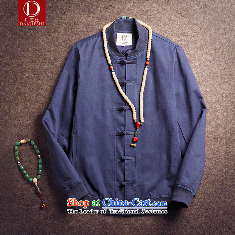 Dan Jie Shi 2015 Autumn autumn replace original design of China wind load father retro jacket men pure cotton pad detained baseball uniform jacket male and black聽XL, Dan Jie Shi (DANG JIE SHI) , , , shopping on the Internet
