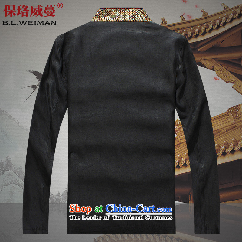 The Lhoba nationality Wei Overgrown Tomb 100 warranty silk yarn male cloud of incense Tang dynasty long-sleeved jacket coat in thin older persons men fall black聽, L, warranty, Judy Wai (B.L.WEIMAN Overgrown Tomb) , , , shopping on the Internet