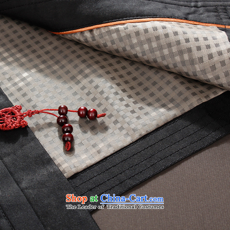 The Lhoba nationality Wei Overgrown Tomb Providence warranty on a rainy pearl disc detained men of older persons in the Tang dynasty, male jacket thin silk yarn black聽XXXXL, cloud of incense warranty (B.L.WEIMAN Verisign Mephidross Lhoba nationality) , ,