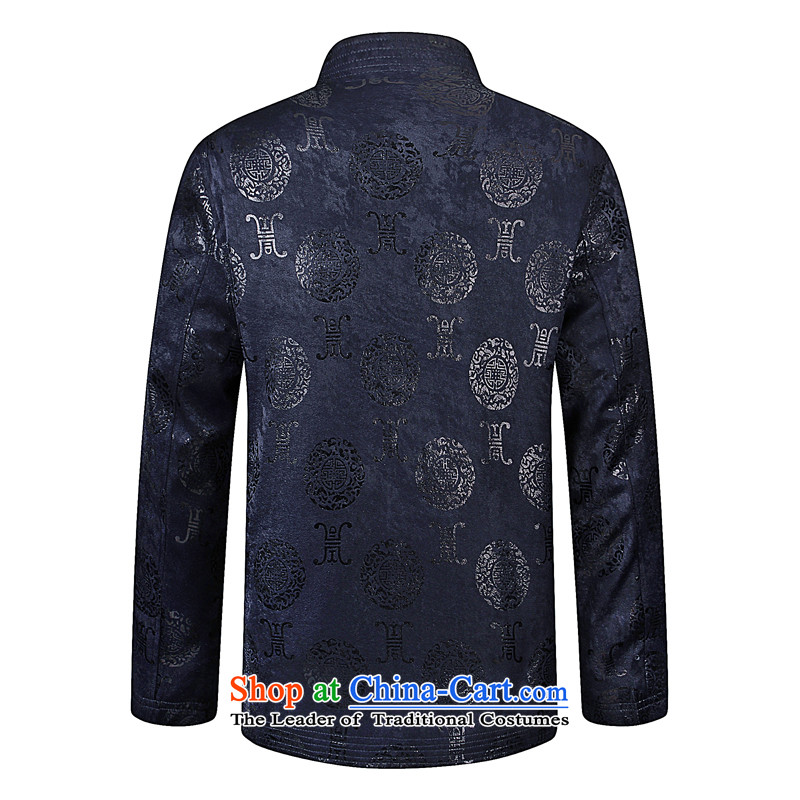 8SE thick聽2015 autumn and winter new elderly men Tang dynasty China wind long-sleeved sweater leisure shirt color navy聽180, 8SE thick , , , shopping on the Internet
