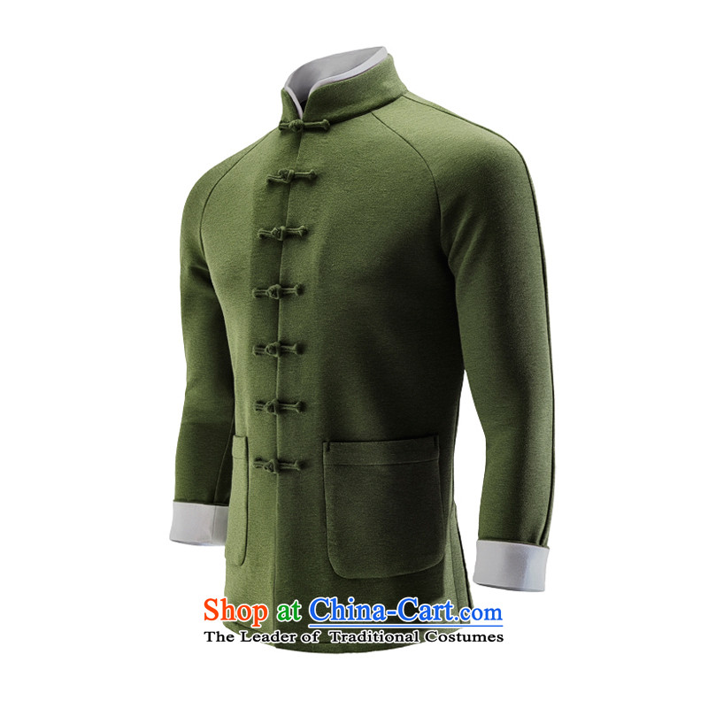 Hee-Yong-nam, a snapshot of the Chinese stand collar tray clip Tang jackets China wind movement sweater air Layer Shirt Sau San men Army Green�XL