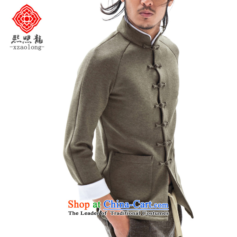Hee-Yong-nam, a snapshot of the Chinese stand collar tray clip Tang jackets China wind movement sweater air Layer Shirt Sau San men Army Green聽XL, Hee-snapshot (XZAOLONG lung) , , , shopping on the Internet