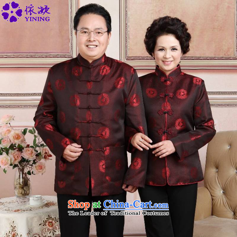 In accordance with the fuser autumn and winter trendy new ethnic improved female_ jacket collar stamp mom and dad couples Tang jacket over life聽jacket -4_ WNS_2383_ services women 3XL