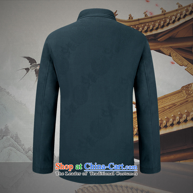 The Lhoba nationality Wei Mephidross warranty spring China wind men Tang dynasty men kit spring and autumn long-sleeved jacket coat of Chinese male retro (TZ9273) blue packaged 170/M, warranty, Judy Wai (B.L.WEIMAN Overgrown Tomb) , , , shopping on the In