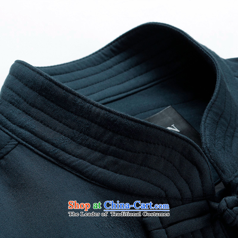 The Lhoba nationality Wei Mephidross warranty spring China wind men Tang dynasty men kit spring and autumn long-sleeved jacket coat of Chinese male retro (TZ9273) blue packaged聽170/M, warranty, Judy Wai (B.L.WEIMAN Overgrown Tomb) , , , shopping on the In