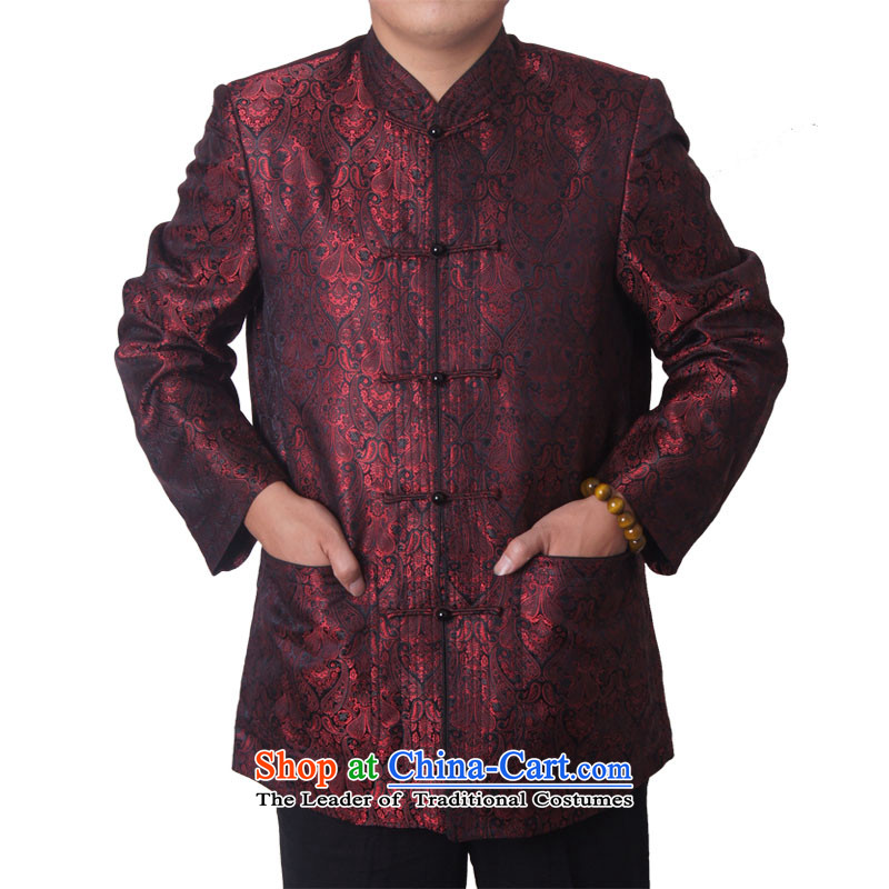Mr Rafael Hui-ying's New Man Tang jackets spring long-sleeved shirt collar male China wind Chinese elderly in the national costumes holiday gifts deep red deep red 1586-15 185 pictures, prices, brand platters! The elections are supplied in the national character of distribution, so action, buy now enjoy more preferential! As soon as possible.