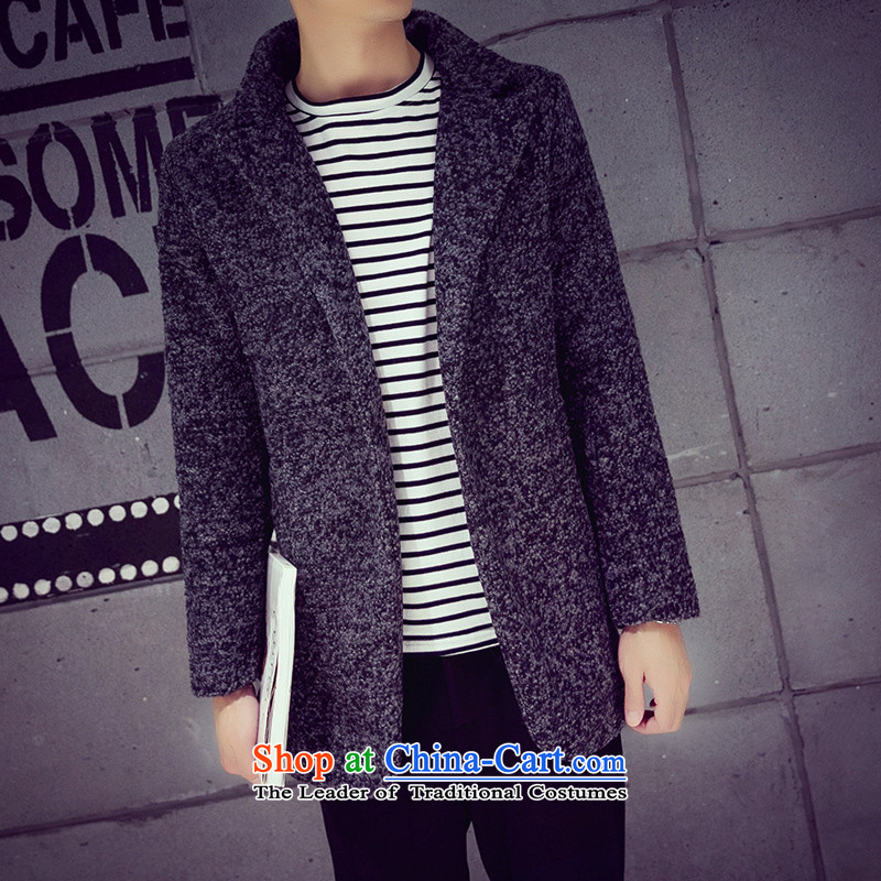 Mrs Rafael Hui Carter, 20152015 autumn and winter new Korean men in Sau San gross circle be long coats snowflake gray?? jacket carbon聽XXL