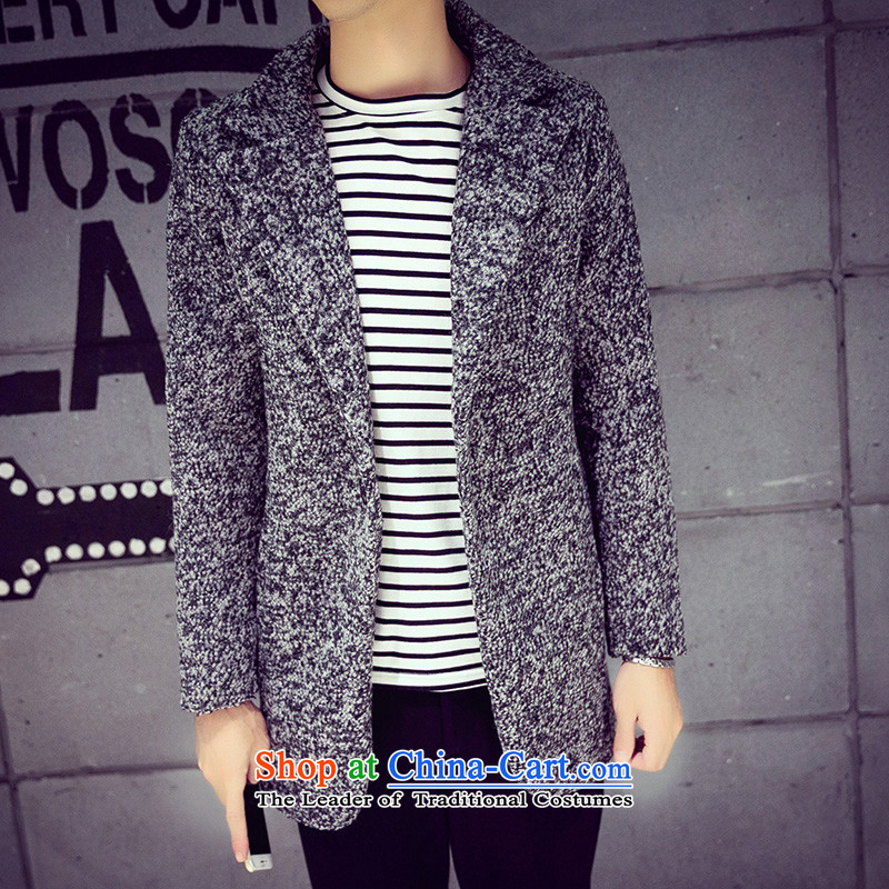Mrs Rafael Hui Carter, 20152015 autumn and winter new Korean men in Sau San gross circle be long coats snowflake gray?? jacket聽XXL, ancient Sze Jimmy Carter carbon , , , shopping on the Internet